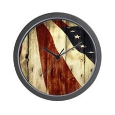 Bleeding Red, White, and Blue Wall Clock
