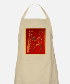Standing gold Siamese Kitty Apron