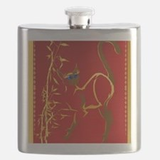Standing gold Siamese Kitty Flask