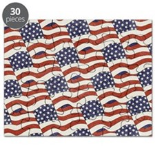 American Flag Pattern Puzzle