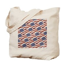 American Flag Pattern Tote Bag