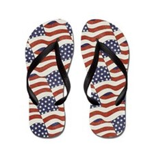 American Flag Pattern Flip Flops