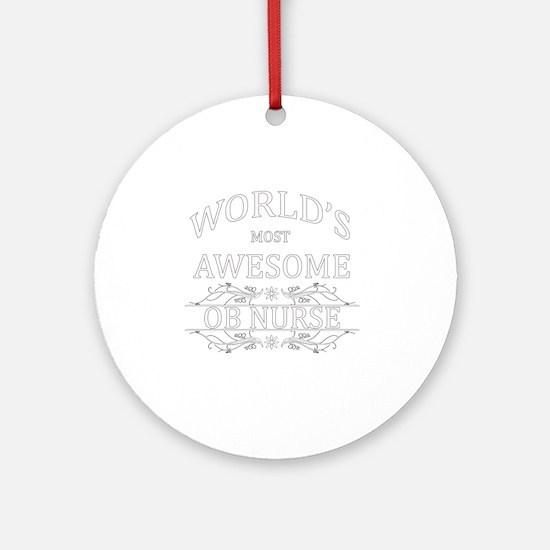 ob nurse Round Ornament