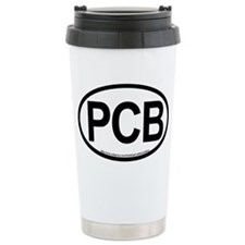 Panama City Beach Oval  Travel Mug