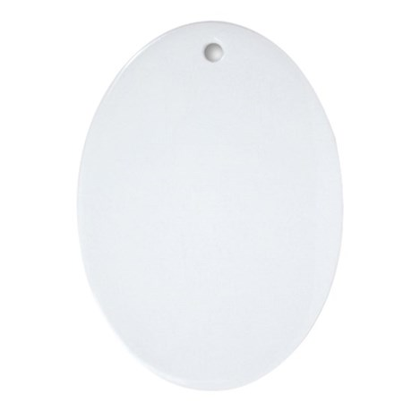 Keep Calm and Stay Focused (White) Oval Ornament