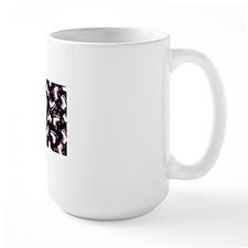 Pink and Black Ice Skating and Snowflak Ceramic Mugs