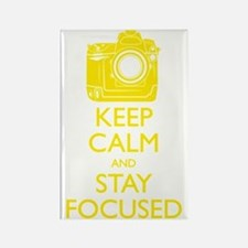 Keep Calm and Stay Focused (Yello Rectangle Magnet