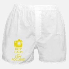 Keep Calm and Stay Focused (Yellow) Boxer Shorts