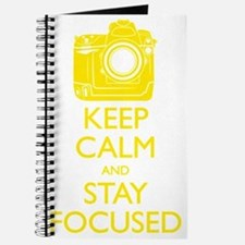 Keep Calm and Stay Focused (Yellow) Journal