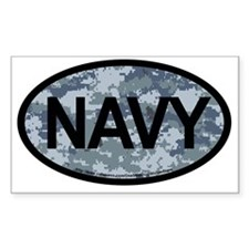 US Navy Camo Oval Sticker Decal