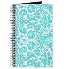 aqua grey damask bg4 Journal