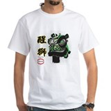 Lion dance Mens White T-shirts