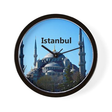 Istanbul_11x9_CalendarPrint_BlueMosque Wall Clock