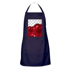 red roses and polka dot Apron (dark)