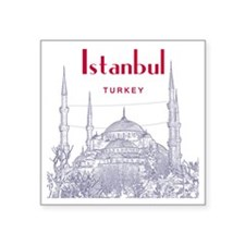 "Istanbul_10x10_BlueMosque_R Square Sticker 3"" x 3"""