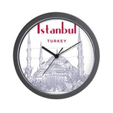 Istanbul_10x10_BlueMosque_Red Wall Clock