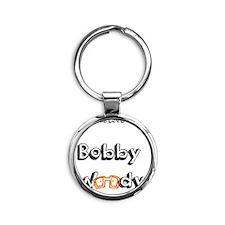 Orange Glasses Chicks Love Bobby Wo Round Keychain