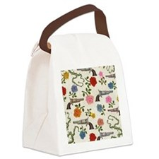 sweet guns and roses Canvas Lunch Bag