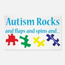 Autism Rocks 3'x5' Area Rug