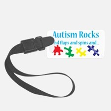 Autism Rocks Luggage Tag