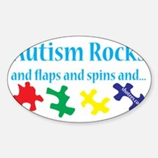 Autism Rocks Sticker (Oval)