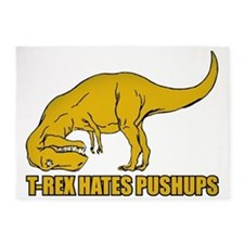 Funny T-rex 5'x7'Area Rug
