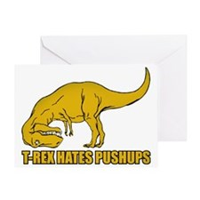 Funny T-rex Greeting Card