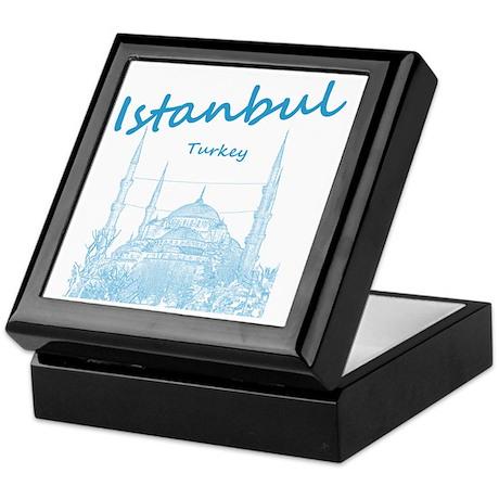 Istanbul_12X12_BlueMosque_Blue Keepsake Box