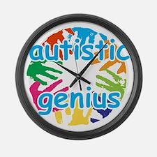 Autistic genius Large Wall Clock