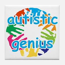 Autistic genius Tile Coaster