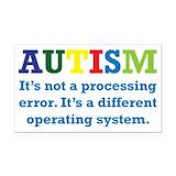"""Autism awareness 3"""" x 5"""""""