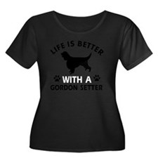 Life Is  Women's Plus Size Dark Scoop Neck T-Shirt