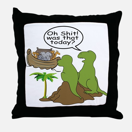 Oh Shit Throw Pillow