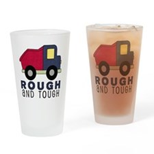 Rough and Tough (4) Dump Truck Drinking Glass