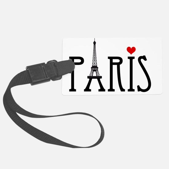 Love Paris with Eiffel tower and Large Luggage Tag