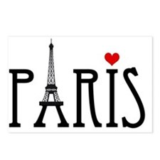 Love Paris with Eiffel to Postcards (Package of 8)