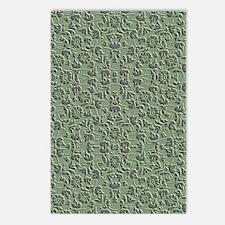 Green Embossed Postcards (Package of 8)