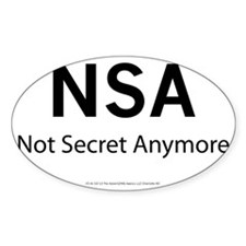 NSA   Not Secret Anymore Decal