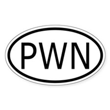 PWN Oval Decal