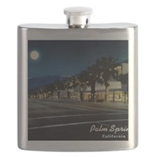 Night Scene, Palm Springs, California Flask