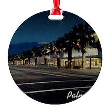 Night Scene, Palm Springs, Californ Ornament