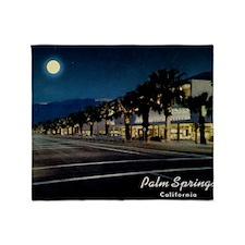 Night Scene, Palm Springs, Californi Throw Blanket