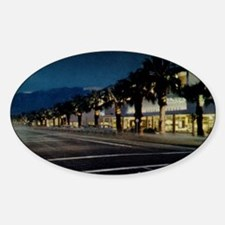 Night Scene, Palm Springs, Californ Sticker (Oval)