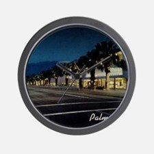 Night Scene, Palm Springs, California Wall Clock