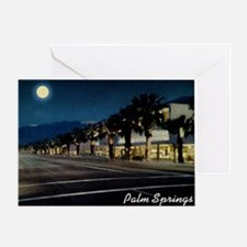 Night Scene, Palm Springs, Californi Greeting Card
