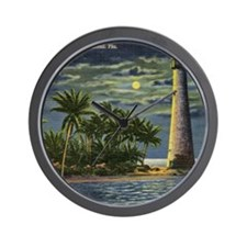 Cape Florida Light House, Miami Vintage Wall Clock