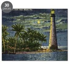 Cape Florida Light House, Miami Vintage Puzzle