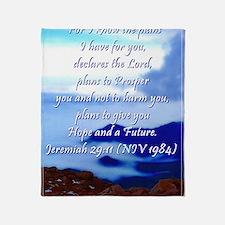 Jeremiah 29:11 Throw Blanket