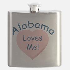 Alabama Loves Me Pink Flask