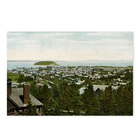 Bird's Eye View Bar Harbo Postcards (Package of 8)